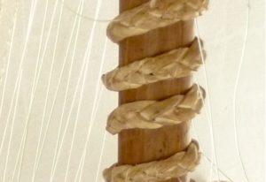 Close-up of konso kora neck rings